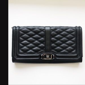 Rebecca Minkoff |Love Quilted Leather Clutch Black